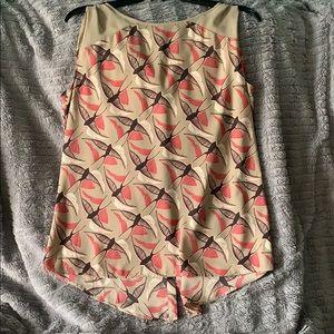 APT 9 women's sleeveless bird blouse!